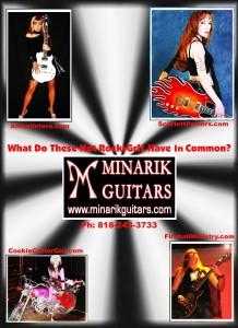 LYNN JULIAN as CCG POP SUPERHERO for photo shoot at Minarik Guitars in Los Angeles, CA