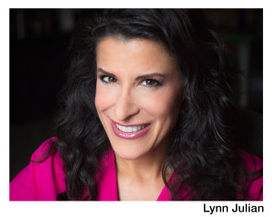 Headshot_Lynn Julian_Boston Actress_Full  Smile_No Glasses_Pink Shirt_Erica Derrickson_13_NAME BORDER
