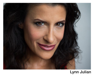 Lynn Julian, Boston Actress, Film Headshot with evil grin.