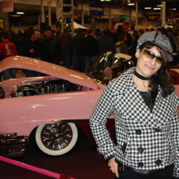 Lynn Julian-Car Show 2010-Houndstooth Jacket-Cap-Hat