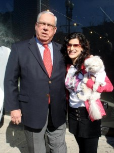 Lynn Julian, Boston Actress and musician, with Boston Mayor, Thomas Menino