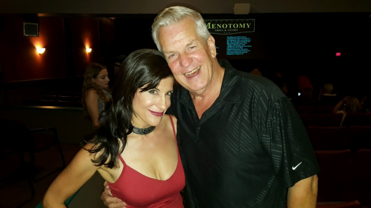 "LYNN JULIAN, Boston Actress, with comedian, Lenny Clarke at Film Premiere for ""Lazarus Rising."""