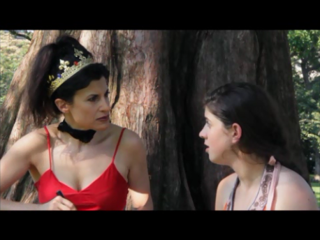 "Lynn Julian, Boston Actress, as the Prom Queen AKA Red Queen for film short, ""Scrambled Summer"""